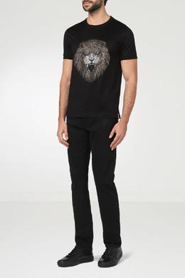 Черная футболка с декором Billionaire 1668144719