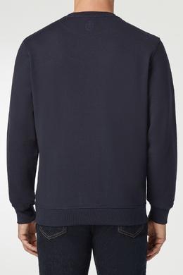 Синий свитшот с вышивкой Billionaire 1668144739