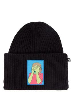 Черная шапка с цветной нашивкой Marcelo Burlon County Of Milan 29144649