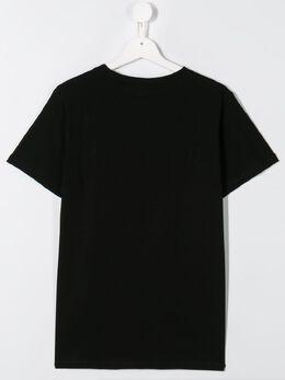 Balmain Kids футболка с контрастным логотипом 6L8581LX160930BC