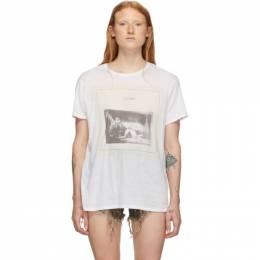R13 White Joy Division Closer Boy T-Shirt 192021F11000602GB
