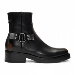 Raf Simons Black High Sole Detail Low Boots 192287M22800106GB