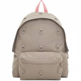 Raf Simons Grey and Pink Eastpak Edition Padded Loop Backpack 192287M16600901GB
