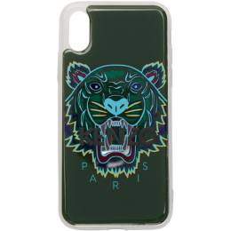 Kenzo Green 3D Tiger Logo iPhone X/XS Case 192387M15300601GB