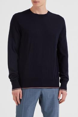 Темно-синий шерстяной джемпер Moncler 34134748