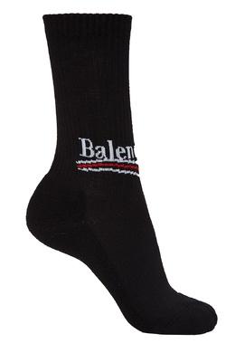 Черные хлопковые носки Balenciaga 39769477