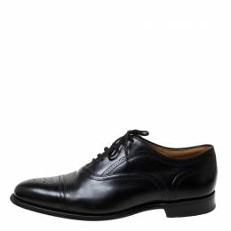 Church's Black Brogue Leather Lace-Up Oxfords Size 45 215112