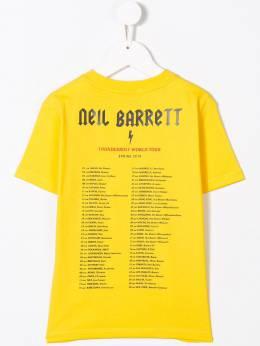 Neil Barrett Kids - футболка с принтом 63369835993360066000