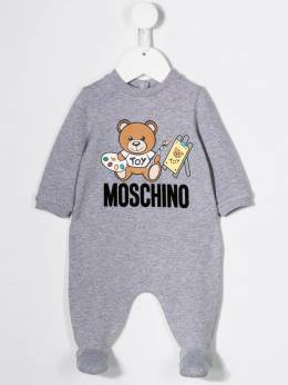 Moschino Kids - комплект из комбинезона и шапки бини с логотипом 60ILDA95953330690000