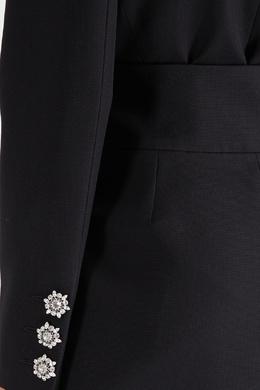 Черное шерстяное платье-смокинг Alexandre Vauthier 356144967