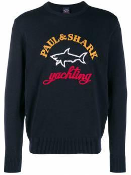 Paul & Shark джемпер вязки интарсия с логотипом I19P1412