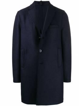 Harris Wharf London однобортное пальто C9101MLK