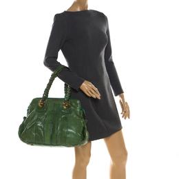 Chloe Green Leather Heloise Satchel 213449