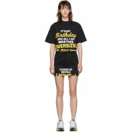Vetements Black Happy Birthday T-Shirt Dress Set 192669F05200303GB