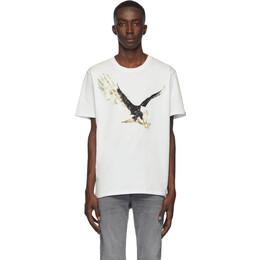Rag&Bone White Eagle T-Shirt 192055M21300704GB