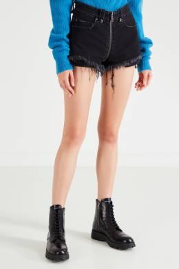 Черные шорты с бахромой Unravel Project 2852145099