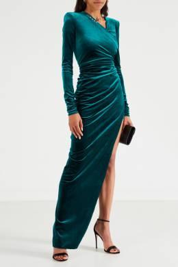 Вечернее платье с драпировкой Alexandre Vauthier 356144969