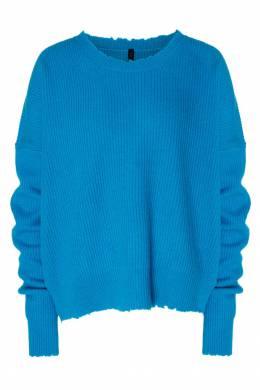Голубой джемпер с рваной отделкой Unravel Project 2852145104