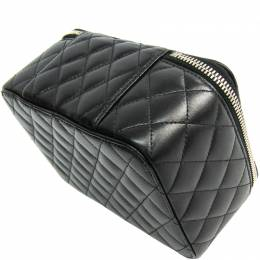 Chanel Black Quilted Leather Jewelry Case 215878