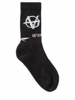 """Носки Из Хлопка """"anarchy"""" Vetements 70IW3L012-QkxBQ0s1"""