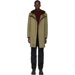 Yves Salomon Khaki Down Gabardine Jacket 20WUM00300GAVI