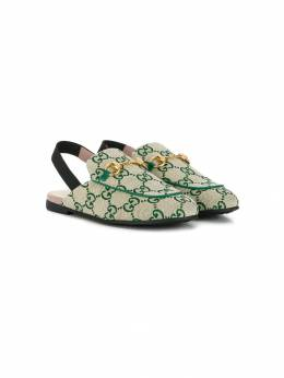 Gucci Kids - canvas slip-on loafers 9899SF56953638580000