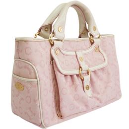 Celine Pink Macadam Coated Canvas Bag 216676