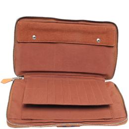 Hermes Brown Leather Wallet 215995