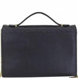 Celine Black Leather Top Handle Bag 216751