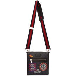 Gucci Black GG Supreme Courier Messenger Bag 547751 9F23N