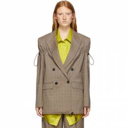 Nina Ricci Beige Arm Tie Blazer 192475F05700303GB