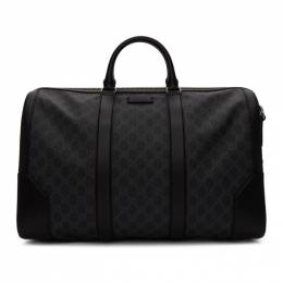 Gucci Black Soft GG Supreme Carry-On Duffle Bag 474131 K5IAN