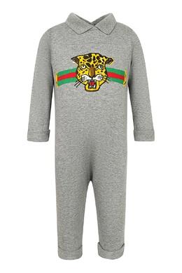 Серый комплект из хлопка Gucci Kids 1256146134