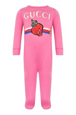 Розовый комплект из хлопка Gucci Kids 1256146135