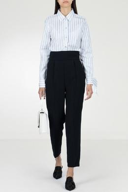 Черные брюки с высокой посадкой Pinko 2198146034