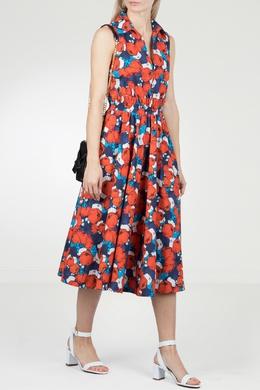 Платье-миди с цветочным рисунком Pinko 2198145917