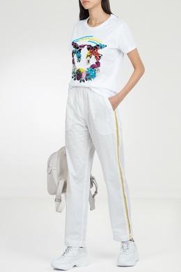 Белая футболка с отделкой Pinko 2198145919