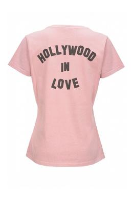 Розовая футболка с принтами Pinko 2198145921