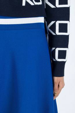Синяя расклешенная мини-юбка Pinko 2198145925