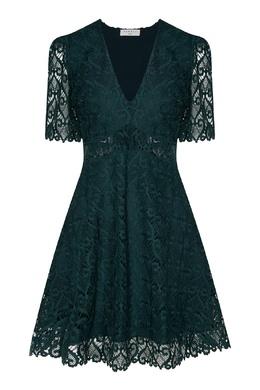 Зеленое кружевное платье Sandro 914145899