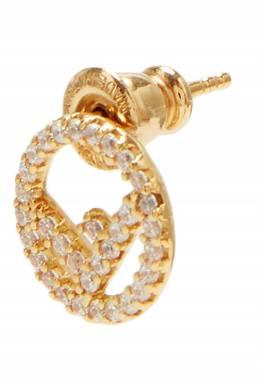 Золотистые серьги с кристаллами Fendi 1632146282