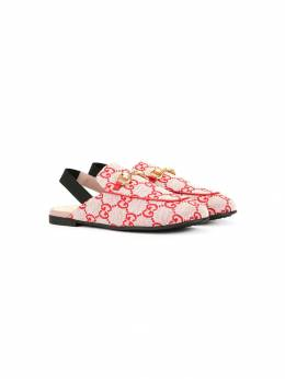 Gucci Kids мокасины с ремешком на пятке и логотипом 4781899SF50