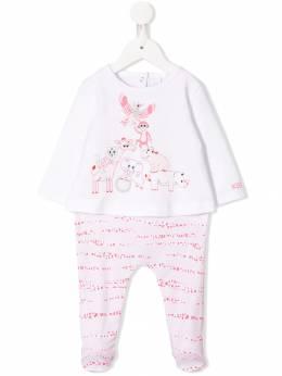 Kenzo Kids пижамный комбинезон с принтом KP5400332