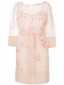 Twin-Set - платье прямого кроя с цветочным принтом TP039B93663063000000