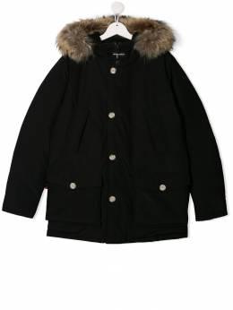 Woolrich Kids - TEEN fur-trimmed hooded coat PS0903UT665995369368