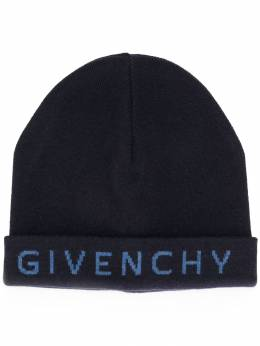 Givenchy - embroidered logo knitted hat 6635Y939535399600000