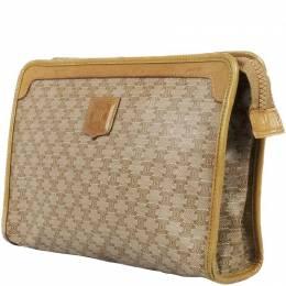 Celine Beige Macadam PVC Clutch Bag 216708