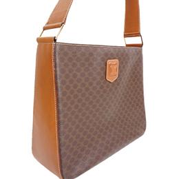 Celine Brown Macadam PVC Shoulder Bag 216770