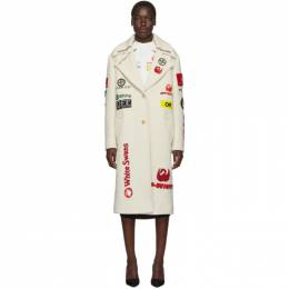 Off-White Off-White Multi-Logo Boyfriend Coat 192607F05900103GB
