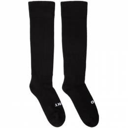 Rick Owens Black So Cunt Knee High Socks 192232F07600102GB